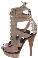 Barbara Bui Suede Lace-Up Sandals