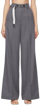 Rokh Grey Long Split Leg Trousers
