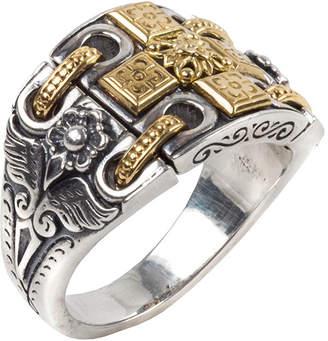Konstantino Calypso Sterling Silver Ring w/ 18k Gold