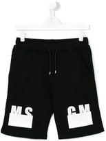 MSGM logo print shorts - kids - Cotton - 14 yrs