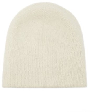 LAUREN MANOOGIAN Double Crown Hand-loomed Beanie Hat - White
