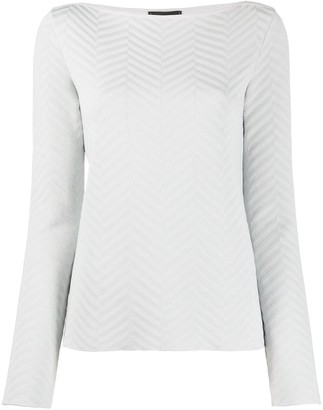 Emporio Armani Chevron Crew Neck Top