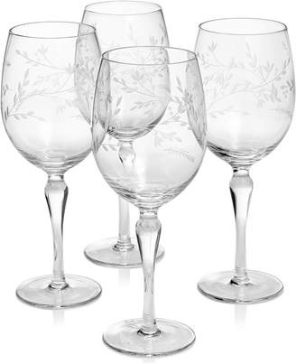 Hotel Collection Etched Floral Wine Glasses, Set of 4