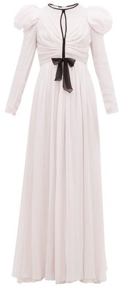 Giambattista Valli Puff-sleeve Silk-georgette Gown - Light Pink