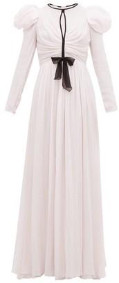 Giambattista Valli Puff-sleeve Silk-georgette Gown - Womens - Light Pink