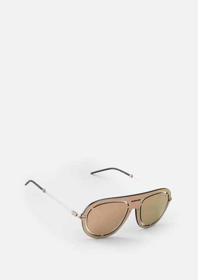 Emporio Armani Laser-Cut Shield Sunglasses