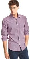 Gap True wash micro plaid slim fit shirt