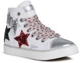 Geox Ciak 71 Sequin Star Applique High Top Sneaker