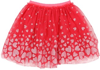 Billieblush Glittered Heart Stretch Tulle Skirt