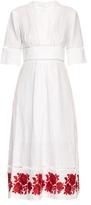 Zimmermann Roza embroidered-hem linen dress