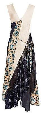 Chloé Women's Patchwork Print Silk Maxi Dress