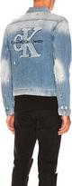 Calvin Klein Applique Trucker Jacket. - size L (also in M)