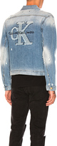 Calvin Klein Applique Trucker Jacket.