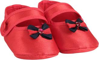 Lòlò LoLo Red Babygirl Flat Shoes With Bow