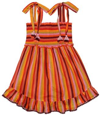 Zimmermann Kids Goldie striped cotton dress