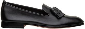 Santoni Tassels Leather Loafer