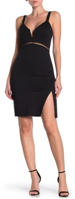 Do & Be Lace Vent Bodycon Dress