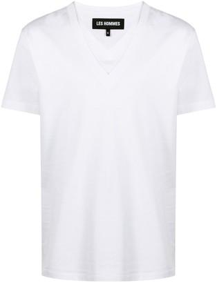 Les Hommes double V-neck T-shirt