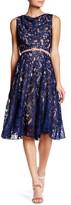 Eva Franco Zena Open Lace Belted Dress