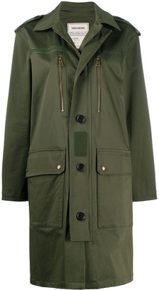 Zadig & Voltaire Kiddy Mili buttoned parka