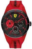 Ferrari Scuderia Men's RedRev T Red Silicone Strap Watch 44mm 830258