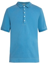 Massimo Alba Tennis Short-sleeved Cotton-blend Polo Shirt