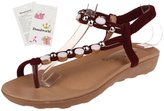 Donalworld Girl Summer Beach Shoes T Strap Flip Flop Wedge Sandal