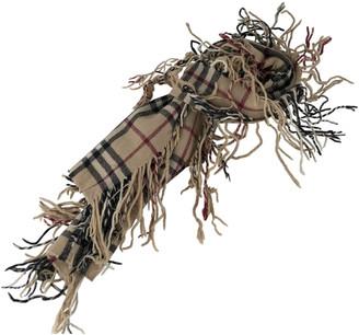 Burberry Beige Wool Scarves & pocket squares