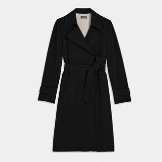 Theory Trench Coat in Crepe