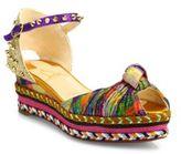 Christian Louboutin Madcarina Knotted Glitter Platform Espadrille Sandals