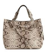 Reiss Bleecker Snake Snake-Print Leather Tote