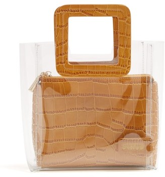 STAUD Mini Shirley Leather & Pvc Tote Bag - Tan