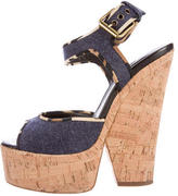 Giuseppe Zanotti Denim Platform Sandals