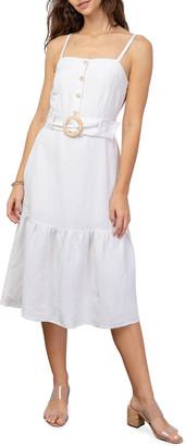 Rails Astrid Belted Flounce Midi Dress
