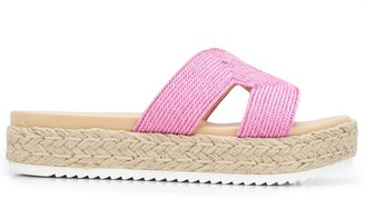Carvela Contrast Panel Cut-Out Detail Sandals