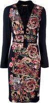 Roberto Cavalli tassel neck printed dress