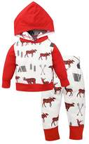Tomfree Baby Unisex Boys Girls Deer Hoodie Top Pants Sweatshirt Christmas Outfit (0-6M, )