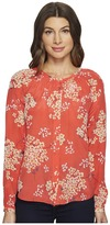 Rebecca Taylor Long Sleeve Philox Floral Top