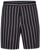 Topman Navy Pinstripe Shorts