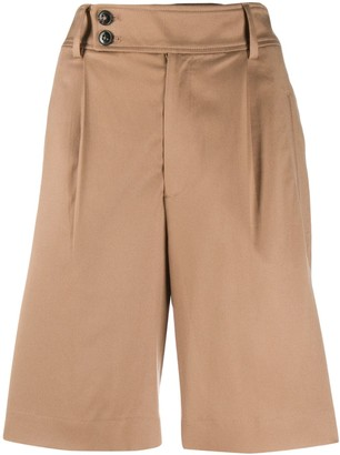 Closed High-Rise Bermuda Shorts