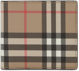 Burberry Tech Coated Check Coin Wallet