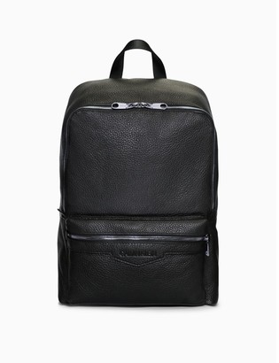 Calvin Klein Pebble Essentials Leather Square Backpack