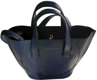 Victoria Beckham Navy Leather Handbags