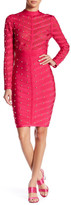 Wow Couture Mesh Contrast Studded Dress