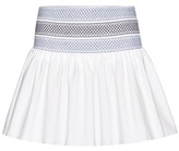 See by Chloe Smocked Cotton Skirt