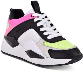 GUESS Women Typical Lace Up Sneakers Women Shoes