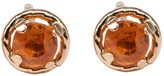 Lily Flo Jewellery Orange Sapphire Stud Earrings On Solid 9Ct Gold