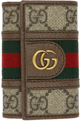 Gucci Beige Ophidia Key Holder Wallet