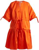 Maison Rabih Kayrouz Tie-waist satin dress