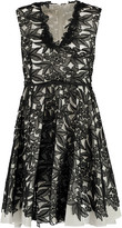 Giambattista Valli Corded lace and silk and cotton-blend dress